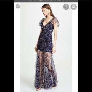 NWT: Alice McCall sz 0 Venus Valentine Gown indigo